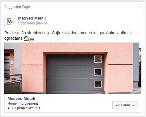 Medved Metali - Facebook oglašavanje - Red Brick marketing agencija