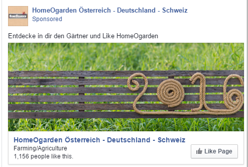 Homeogarden Facebook oglas Austrija - - Red Brick agencija